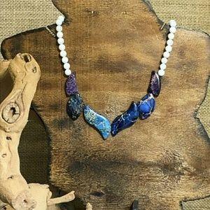 Jewelry - Colorful Sea Sediment Jasper Necklace